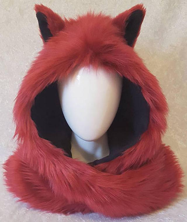 fox animal hood