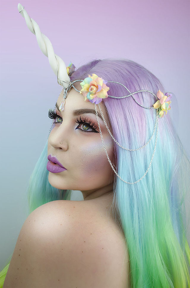 unicorn animal hood headdress crown
