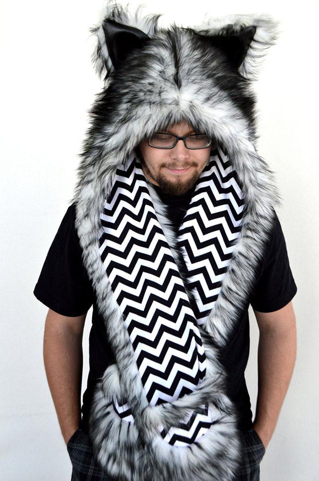 wolf animal hood