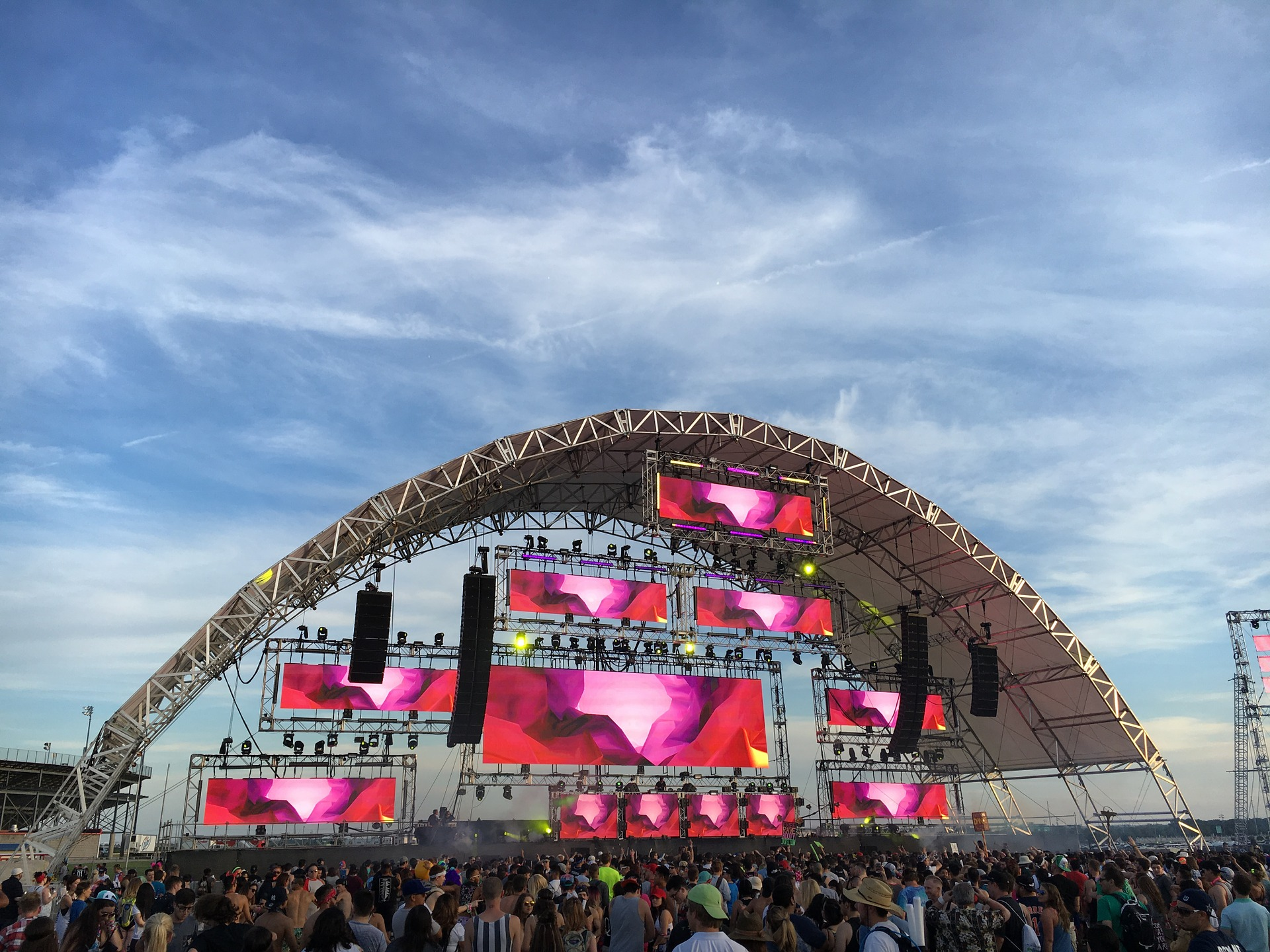 Music festival stage