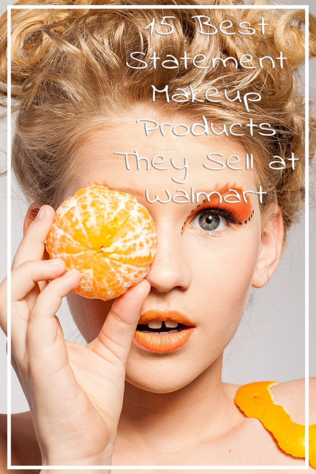 Blonde woman with gap tooth holds a peeled orange over one eye