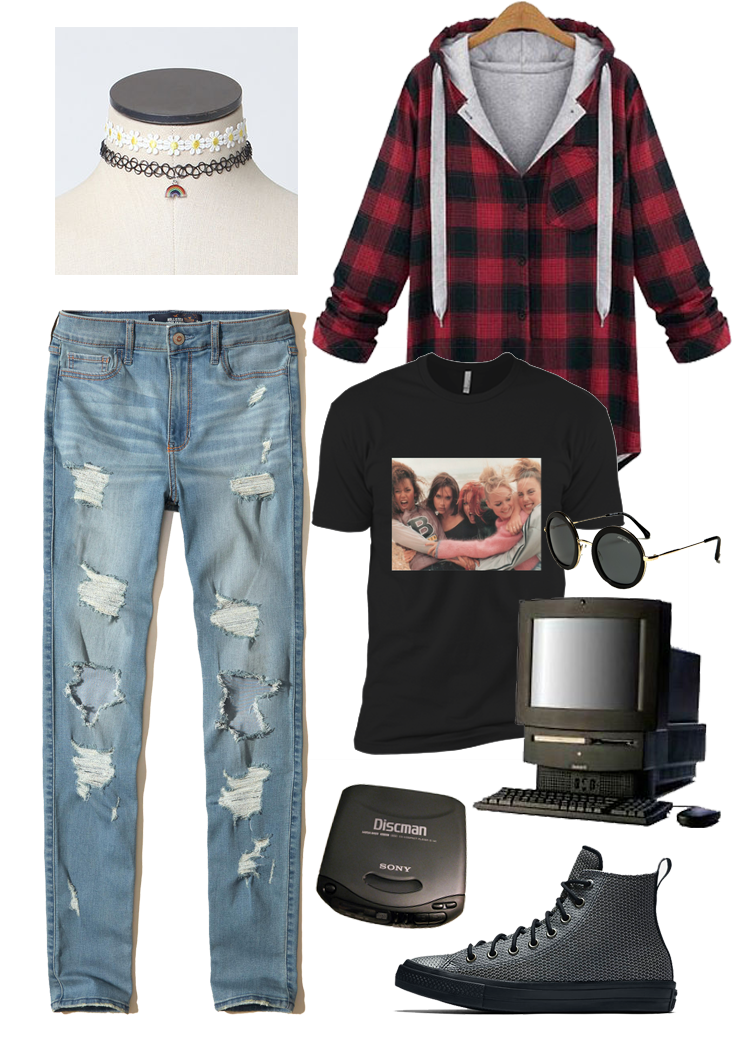 90s grunge outfit idea inspiration