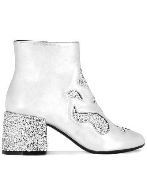 glitter ankle booties