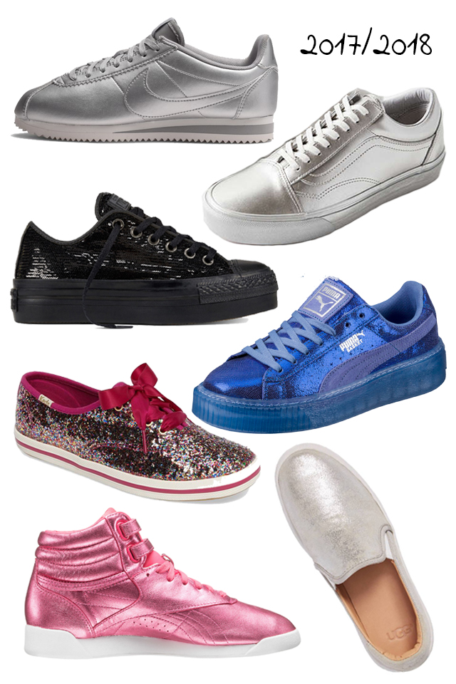 7 Pairs Of Metallic Sneakers Perfect For The Holidays