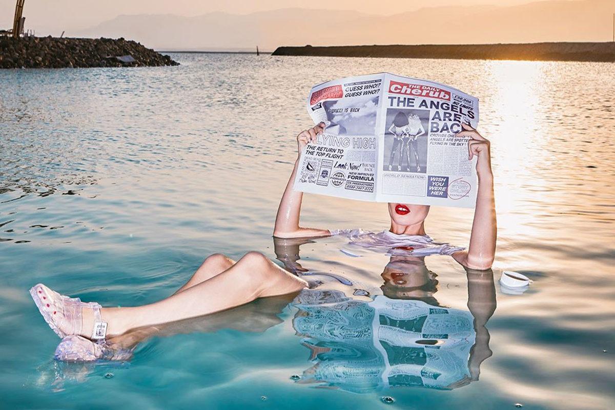 Fiorucci 2017 summer ad campaign with Georgia Jagger