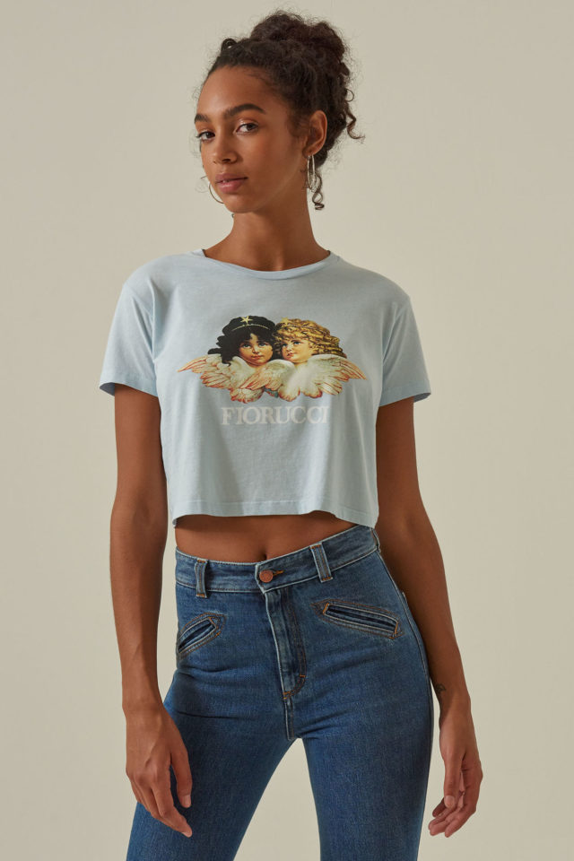 fiorucci cropped angel t shirt