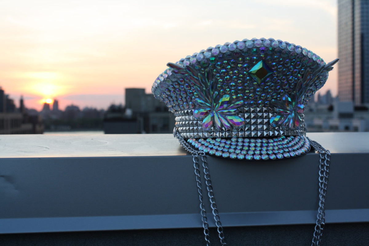 bejeweled captain hat by ineffable glitter