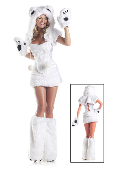polar bear Christmas costume
