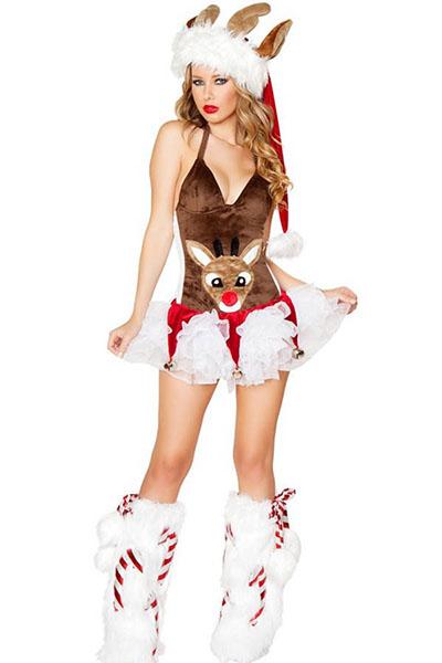 reindeer Christmas costume - 24 Unique Ideas For Sexy Christmas Costumes - Slutty Raver Costumes