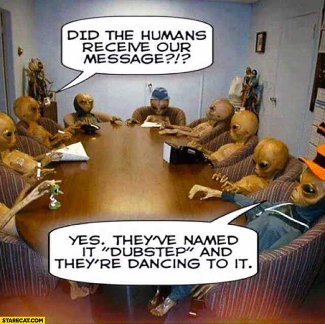aliens in a boardroom meme