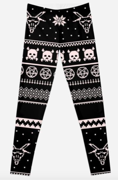 edgy christmas leggings