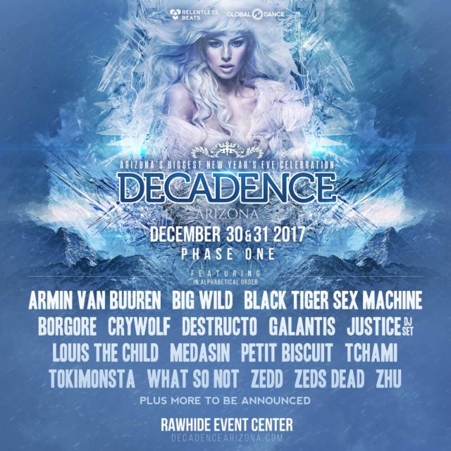 Decadence NYE 2017 flyer