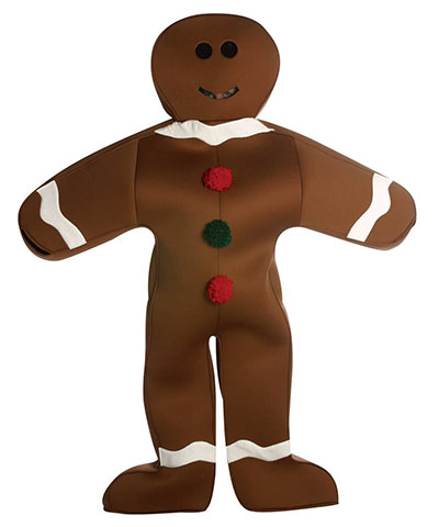 gingerbread man Christmas costume