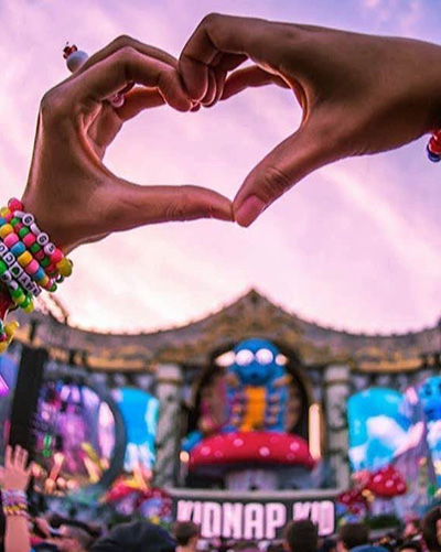 heart hands at edm festival