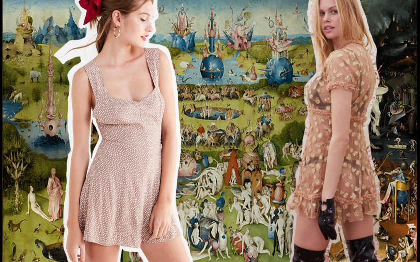 garden of earthly delights and naked dresses