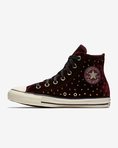 Converse velvet sneakers