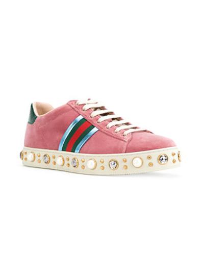Gucci velvet sneakers