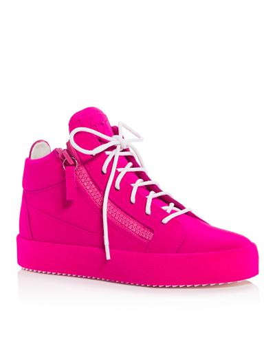 Giuseppe Zanotti velvet sneakers