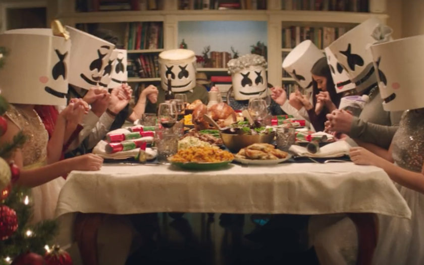 scene from Marshmello Take It Back video