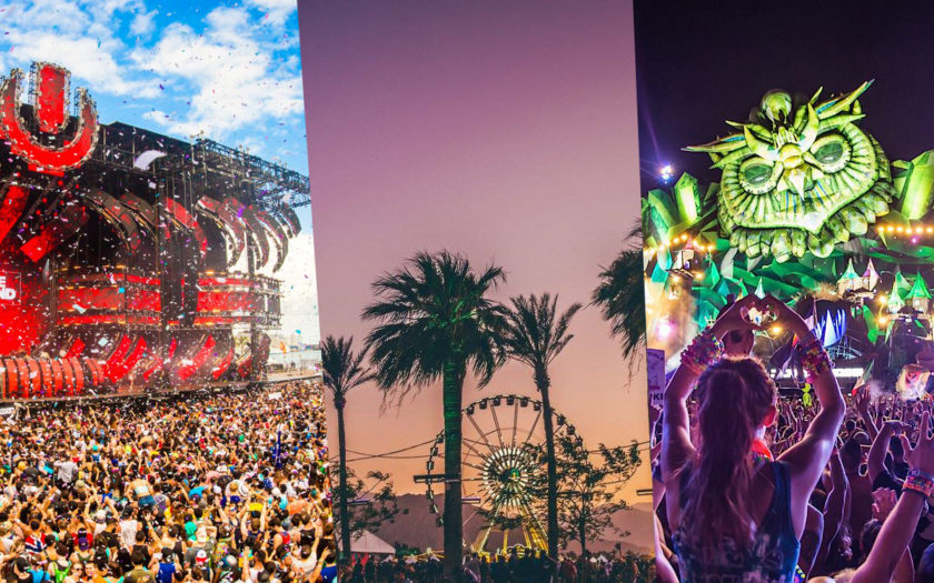 ultra miami, coachella and EDC las vegas