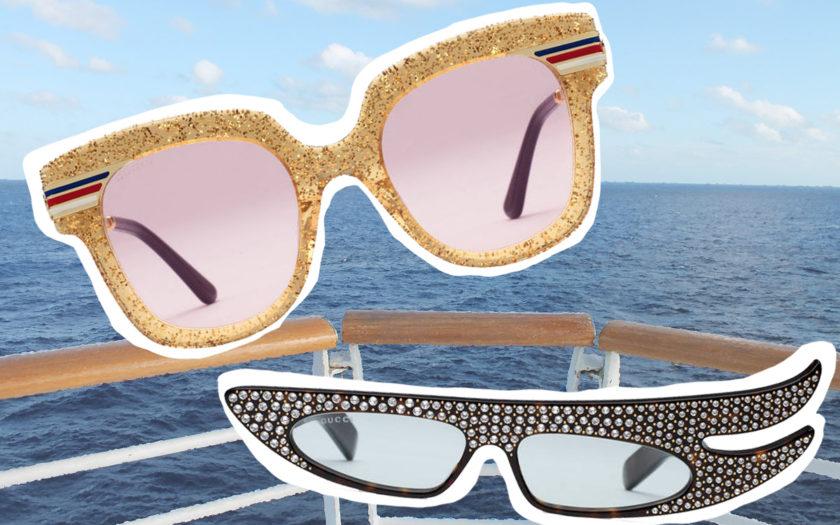 gucci 2018 statement sunglasses on a boat