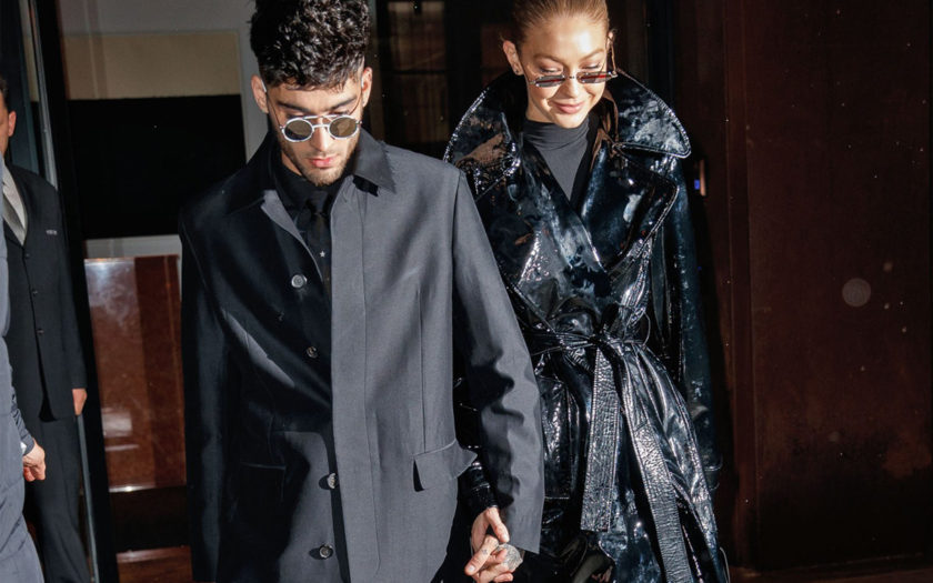 bella hadid and zayn malik in adorable matching matrix outfits