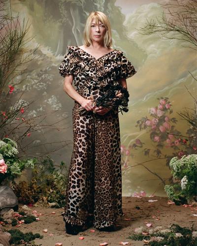Kim Gordon Rodarte Leopard Print Silk Chiffon Ensemble