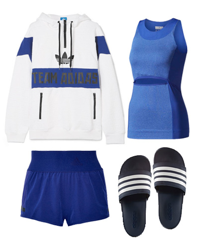 adidas blue outfit