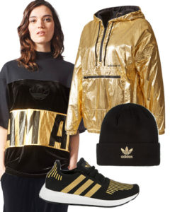 adidas black and gold outfit