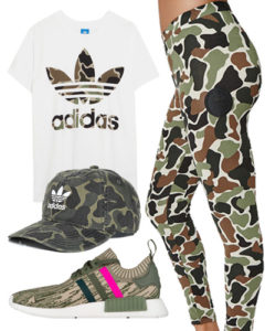 camo adidas outfit