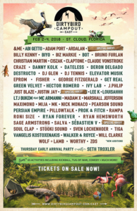 dirtybird campout east 2018 line up