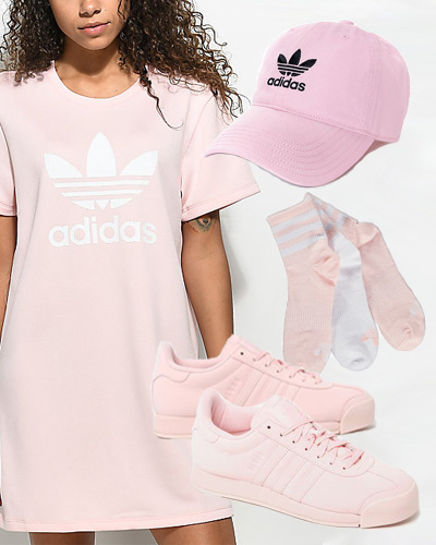 pink adidas outfit