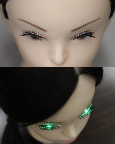 sheseido LED eyelashes via Getty Images