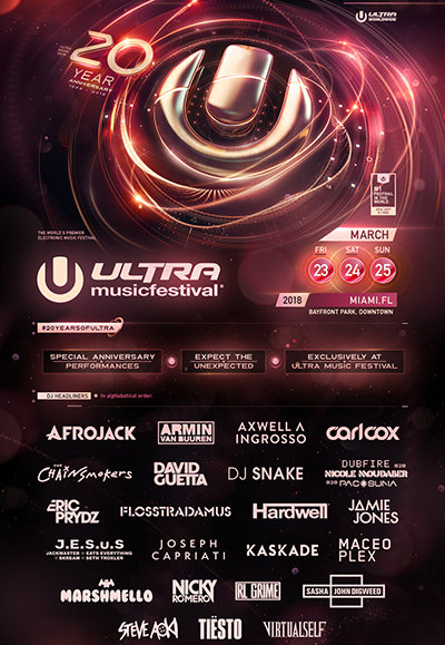 ultra miami lineup 2018 headliners only