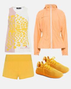 yellow adidas stella mccartney outfit
