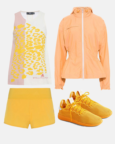 yellow adidas stella mccartney outfit