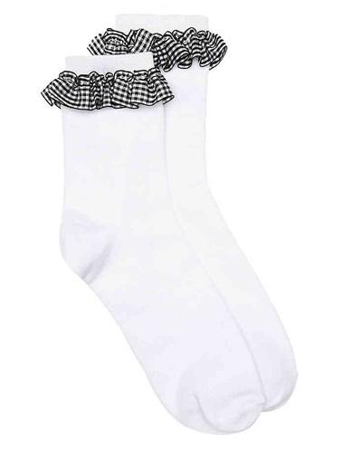 gingham ruffle socks