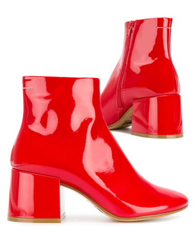 MM6 MAISON MARGIELA red boots