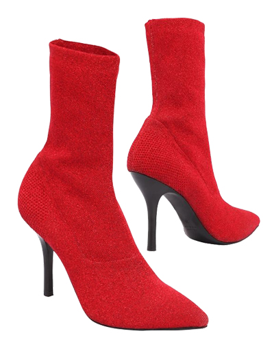 STRATEGIA red boots