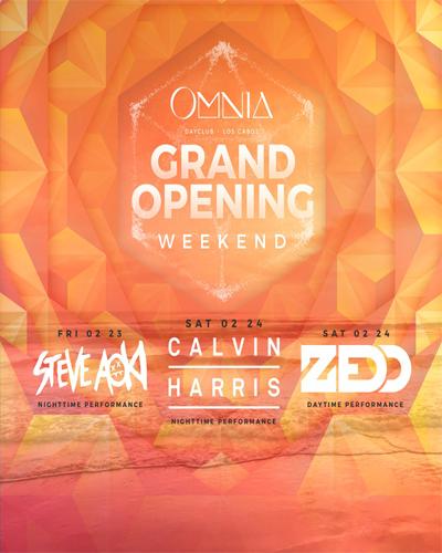 omnis los cabos grand opening weekend flyer 2018