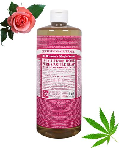 DR. BRONNER'S Rose Pure-Castile Liquid Soap