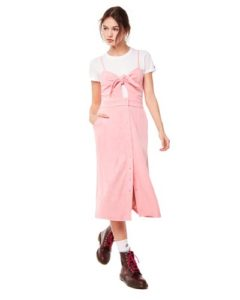 MICROTERRY TIE FRONT MAXI DRESS