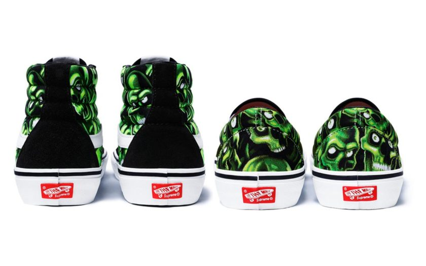 supreme vans high and low tops from behind