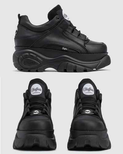 buffalo london buffalo classic sneakers black