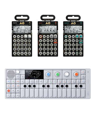 teenage engineering op-1 and 3 pocket operators