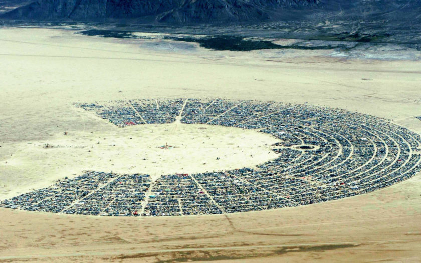 burning man 2017 from a distance