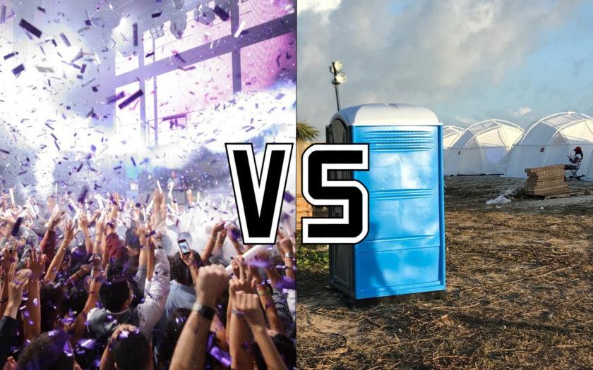 warehouse rave versus music festival
