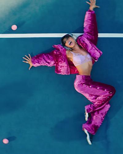 tinashe me so bad pink velour sweatsuit
