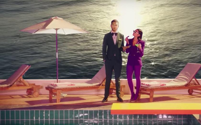 Calvin Harris & Dua Lipa One Kiss music video screenshot