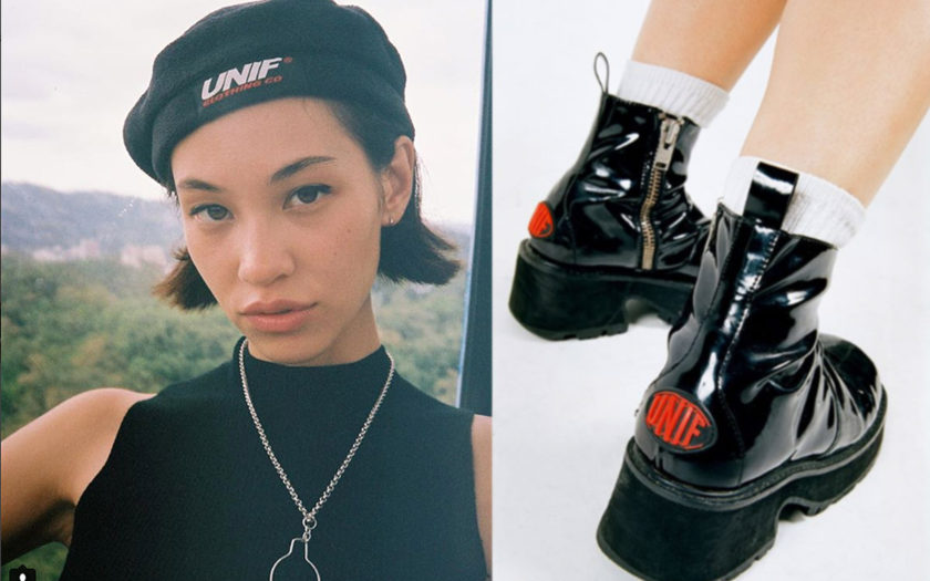 UNIF beret and platform booties spring summer 2018
